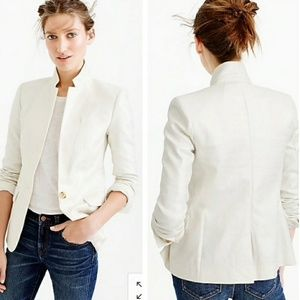 J.CREW one button regent blazer linen jacket 8P